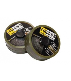 AVID CARP PIN DOWN UNLEADED LEADER-WEED/SILT 45lb