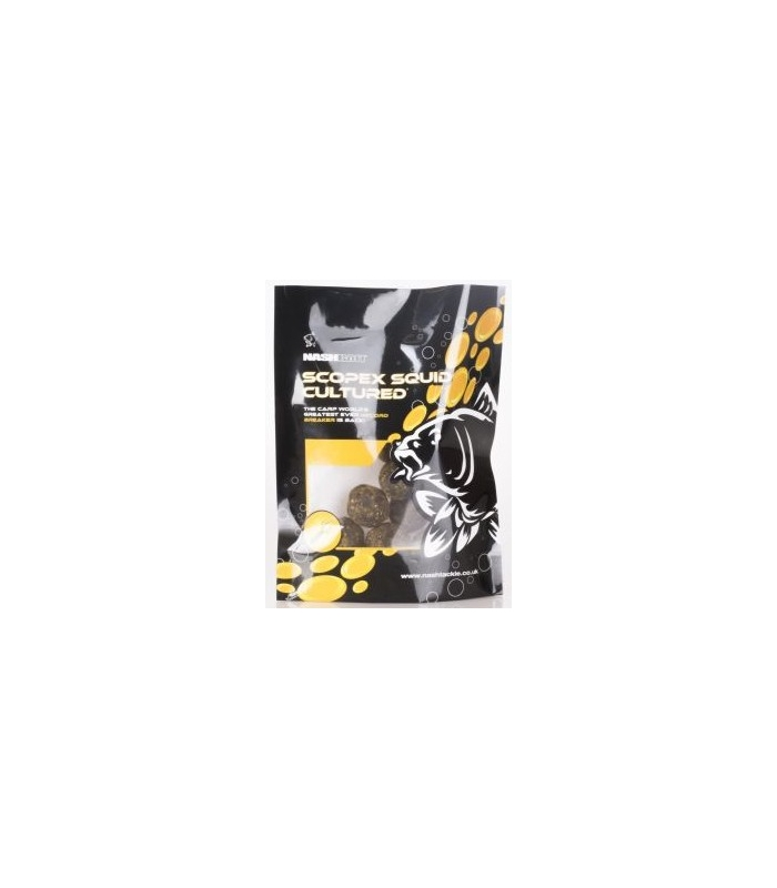 NASH SCOPEX SQUID 20mm x 15 CULTURED HOOKBAITS