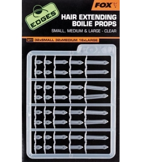 FOX HAIR EXTENDING BOILIE PROPS SMALL , MEDIUM & LARGE - CLEAR