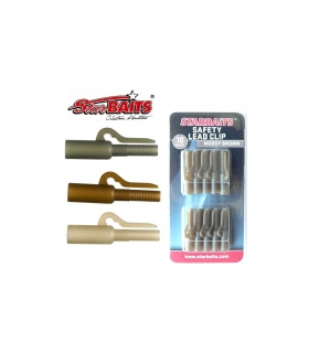 STARBAITS SAFETY LEAD CLIP MUDDY BROWN