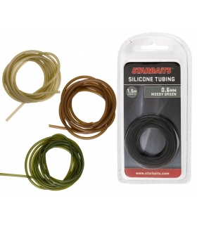 STARBAITS SILICONE TUBING 1.5M 0.6MM WEEDY GREEN