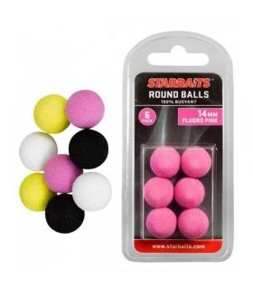 STARBAITS ROUND BALLS 14MM FLUORO PINK