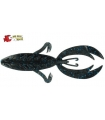 "BIG BITE BAITS ROJAS FIGHTING FROG 4"" BLACK BLUE FLAKE"