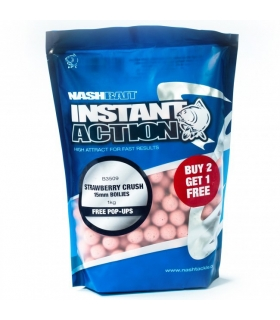 NASH INSTANT ACTION STRAWBERRY CRUSH 15MM 1KG FREE POP-UPS