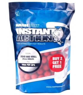 NASH INSTANT ACTION SQUIID AND KRILL FREE POP-UPS 15MM 1KG