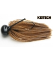 KEITECH RUBBER JIG MODEL II 3/8 DARK GREEN PUMPKING 105