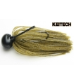KEITECH RUBBER JIG MODEL II 3/8 GREEN PUMPKING PP 101