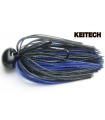 KEITECH RUBBER JIG MODEL II 3/8 BLACK BLUE 407