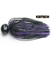 KEITECH RUBBER JIG MODEL II 3/8 BLACK PURPLE 005