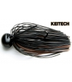 KEITECH RUBBER JIG MODEL II 3/8 BLACK BROWN FI001