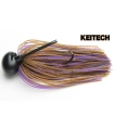KEITECH RUBBER JIG MODEL II 1/2 BROWN PURPLE 008