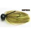 KEITECH RUBBER JIG MODEL II 1/2 GREEN PUMPKING CHART 401