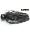 KEITECH RUBBER JIG MODEL II 1/2 BLACK RED 408