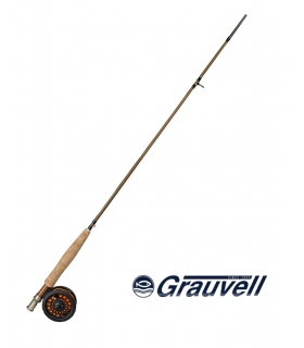 GRAUVELL TS CARBON FLY 2'70MTS 3SEC LINEA 4/5 + CARRETE TS FLY LINEA 5/6