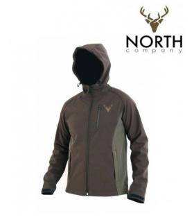 NORTH COMPANY SOFT SHELL C.BROWN/GREEN TALLA XL