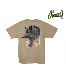 AL AGNEW CAMISETA WILD BOAR BROWN TALLA XL