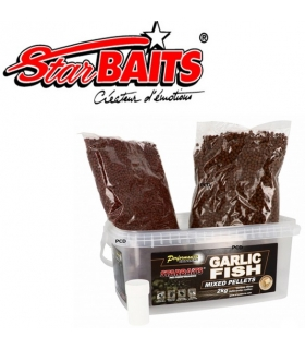 STARBAITS GARLIC FISH MIXED PELLETS 2KG