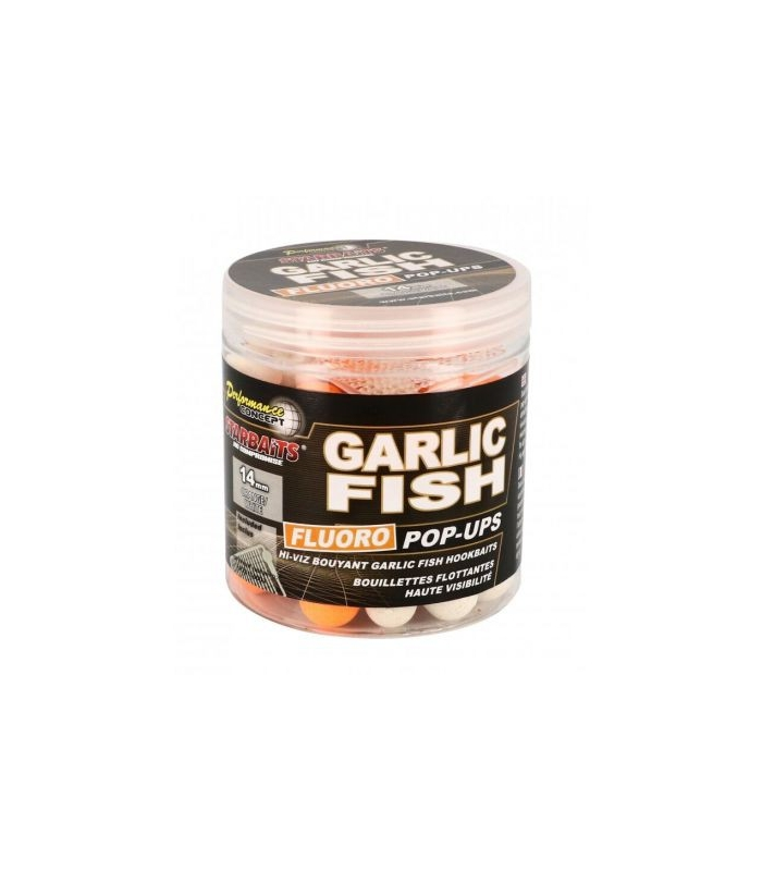 STARBAITS GARLIC & FISH FLURO POP-UP 14MM