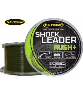 FUN FISHING SHOCK LEADER RUSH+ 0.50M 30LB 100M