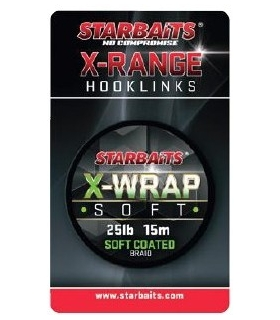STARBAITS X-WRAP SOFT 35LB 15M SOFT COATED BRAID