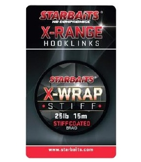 STARBAITS X-WRAP STIFF 35LB 15M STIFF COATED BRAID