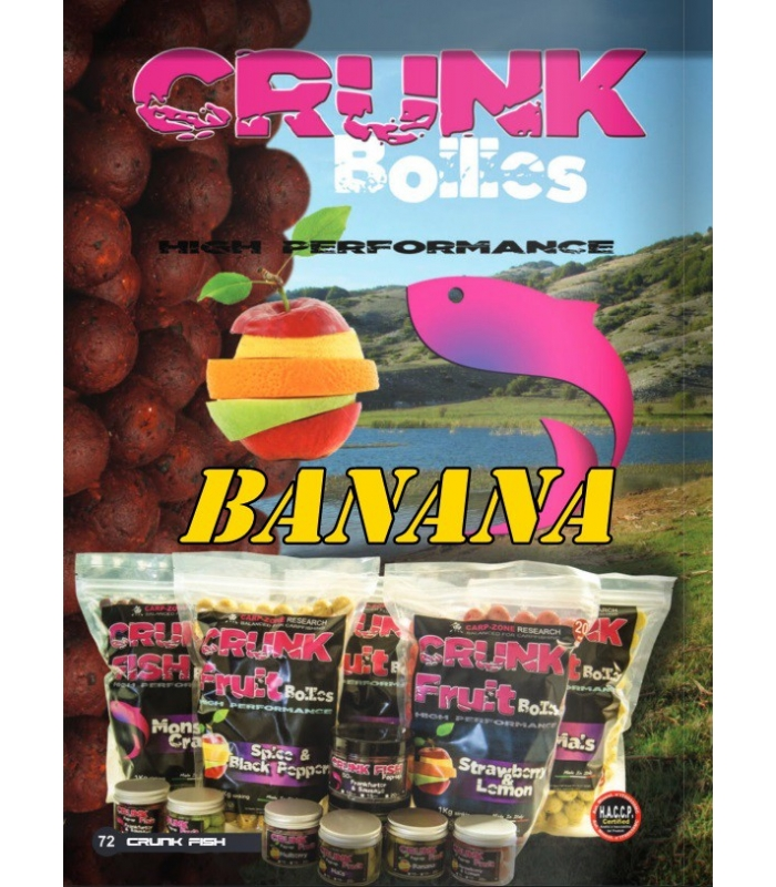 CARP-ZONE CRUNK FRUIT BANANA 20MM 1KG