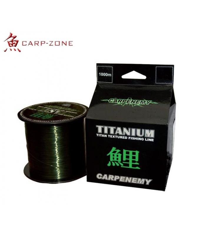 CARP-ZONE TITANIUM VERDE MONOFILAMENTO 0.35 MM
