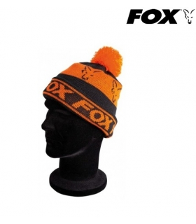 FOX COLLECTION FLEECE LINED BOBBLE BLACK/ORANGE