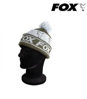 FOX COLLECTION FLEECE LINED BOBBLE GREEN/SILVER