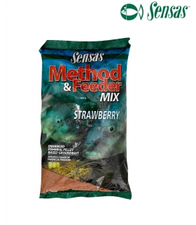 SENSAS FEEDER MIX STRAWBERRY 1KG