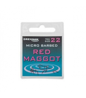 DRENNAN MICRO BARBED RED MAGGOT SIZE 22
