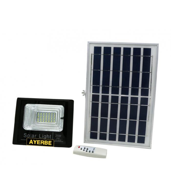 AYERBE FOCO SOLAR LED 25W + PLACA SOLAR