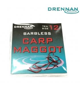 DRENNAN BARBLESS CARP MAGGOT SIZE 12