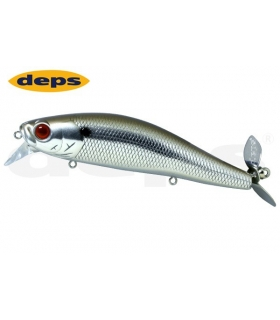 DEPS SPIRALMINNOW CHROME BLACK BACK