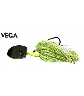 VEGA TUNGSTEN BLADE SWIM JIG 3/8OZ 1PC WHITE/CHRTS