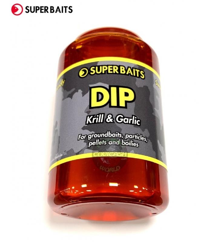 SUPER BAITS DIP KRILL & GARLIC 250ML