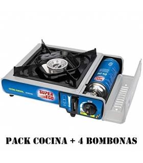 SUPER EGO PACK COCINA PORTATIL + 4 BOMBONAS