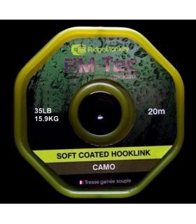 RIDGEMONKEY RM-TEC SOFT COATED HOOKLINK CAMO 35LB 15.9KG