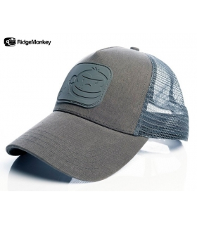 RIDGEMONKEY DROPBACK PASTEL TRUCKER CAP GREY
