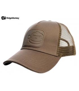 RIDGEMONKEY DROPBACK PASTEL TRUCKER CAP BROWN