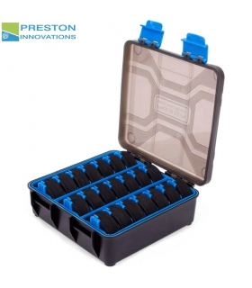 PRESTON INNOVATIONS STORAGE BOX QTY 21 EVA SPOOLS