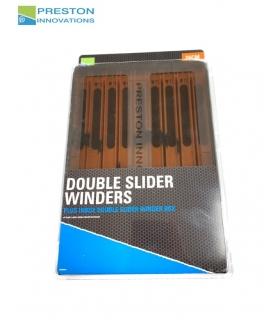PRESTON DOUBLE SLIDER WINDERS 26CM ORANGE QTY 9 PLUS INBOX DOUBLE SLIDER WINDER BOX