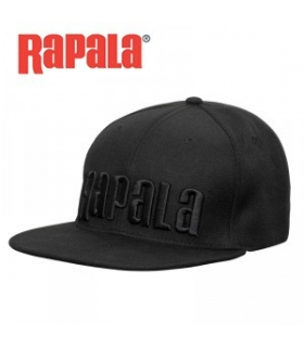 RAPALA BLACK FLAT BRIM CAP