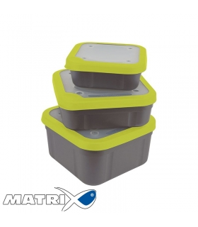 MATRIX SOLID TOP BAIT BOX 3.3PT GREY/LIME