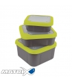 MATRIX SOLID TOP BAIT BOX 2.2PT GREY/LIME