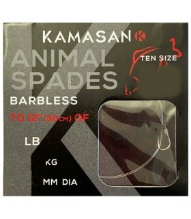 KAMASAN ANIMAL SPADES BARBED HEAVY Nº14 0.18MM