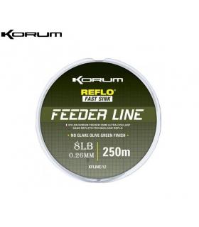 KORUM REFLO FEEDER LINE 250M 8LB 0.26MM