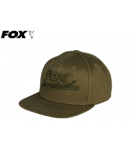 FOX COLLEGE FLAT PEAKED SNAPBACK KHAKI ONE SIZE FITS ALL