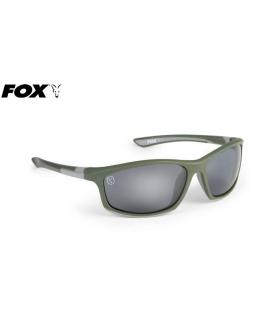 FOX GAFA COLLECTION GREEN & SILVER FRAME/GREY LENSES