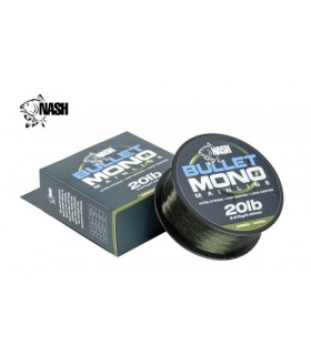 NASH BULLET MONO MAINLINE 20LB 0.40MM GREEN 1000M